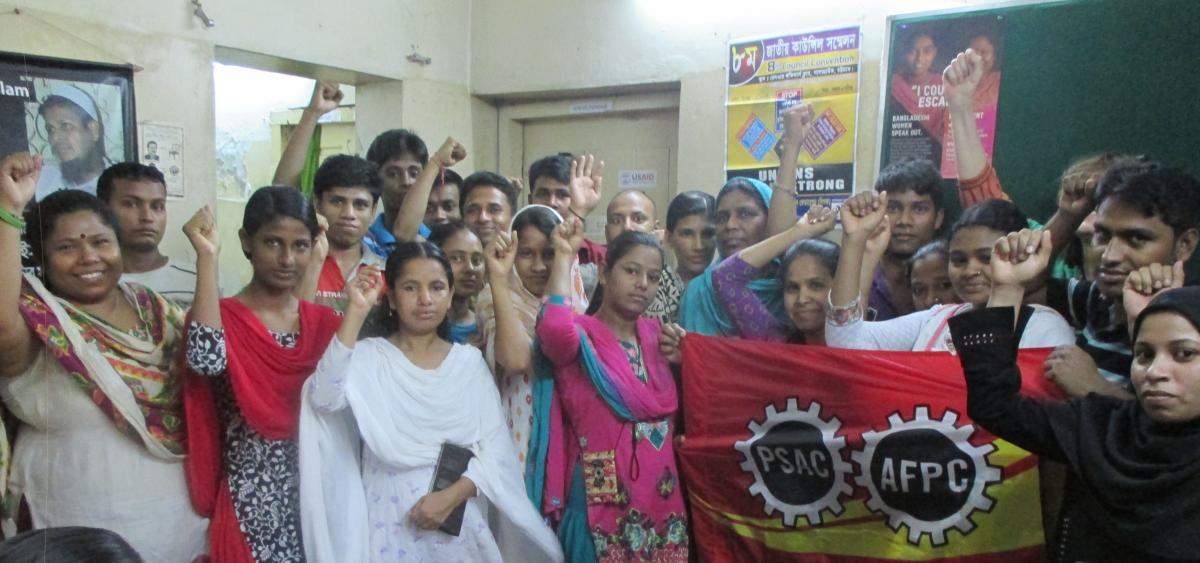 Meeting at the Bangladesh Centre for Workers Solidarity