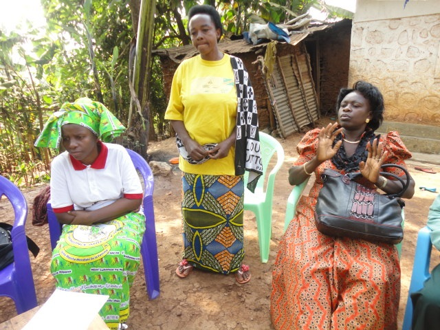 Village women giving testimony