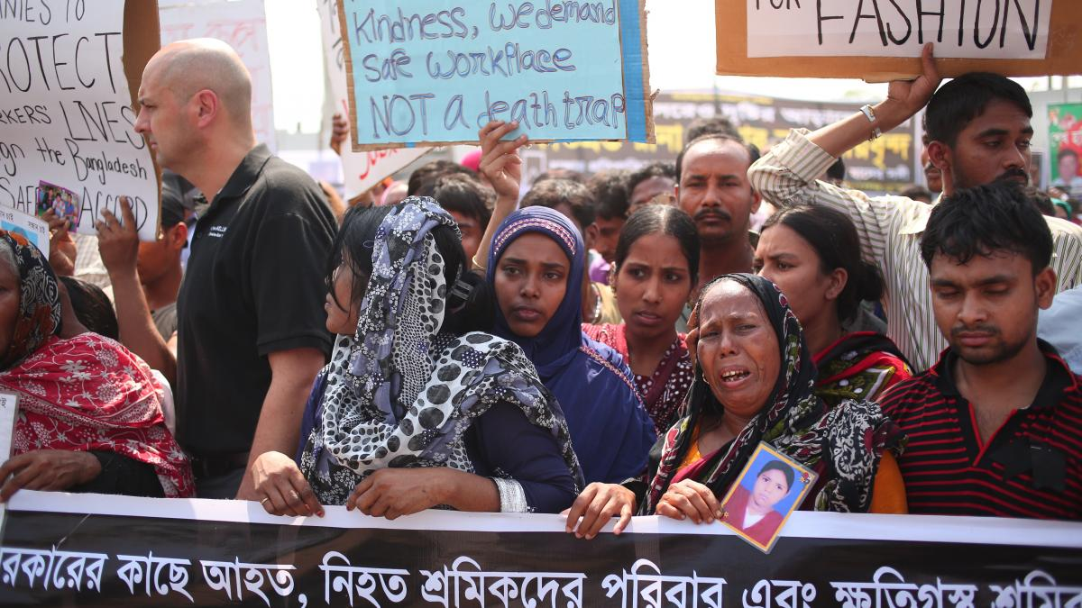 Rally for the first anniversary of Rana Plaza