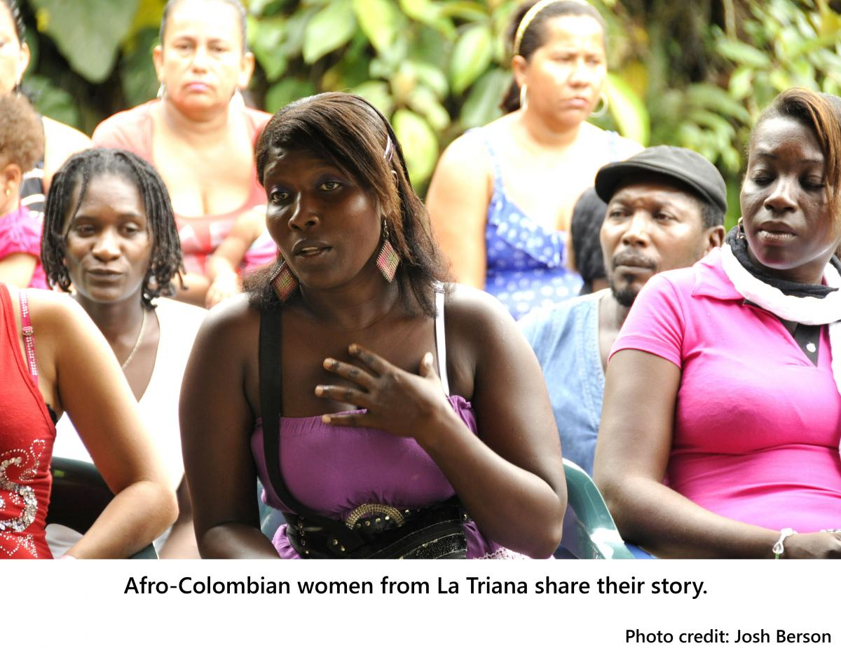 AfroColombian women from La Triana share their story.
